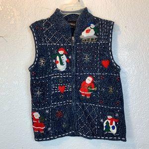 Erika Christmas sweater vest